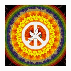 Psychedelic Peace Dove Mandala Glasses Cloth (medium) by StuffOrSomething