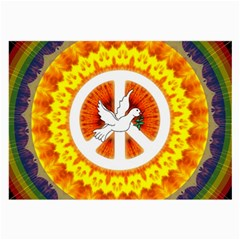 Psychedelic Peace Dove Mandala Glasses Cloth (large) by StuffOrSomething