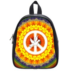 Psychedelic Peace Dove Mandala School Bag (small) by StuffOrSomething