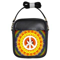 Psychedelic Peace Dove Mandala Girl s Sling Bag by StuffOrSomething