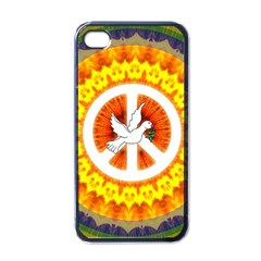 Psychedelic Peace Dove Mandala Apple Iphone 4 Case (black) by StuffOrSomething