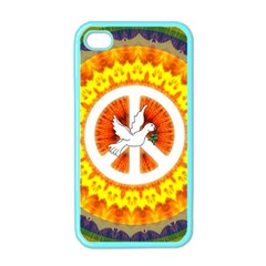 Psychedelic Peace Dove Mandala Apple Iphone 4 Case (color) by StuffOrSomething