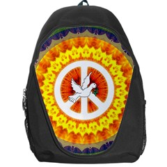 Psychedelic Peace Dove Mandala Backpack Bag by StuffOrSomething