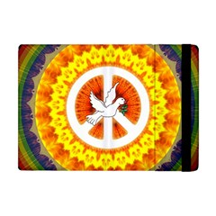 Psychedelic Peace Dove Mandala Apple Ipad Mini Flip Case by StuffOrSomething