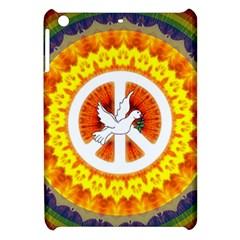 Psychedelic Peace Dove Mandala Apple Ipad Mini Hardshell Case by StuffOrSomething