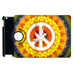 Psychedelic Peace Dove Mandala Apple Ipad 3/4 Flip 360 Case by StuffOrSomething