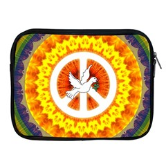 Psychedelic Peace Dove Mandala Apple Ipad Zippered Sleeve by StuffOrSomething
