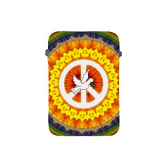 Psychedelic Peace Dove Mandala Apple Ipad Mini Protective Sleeve by StuffOrSomething