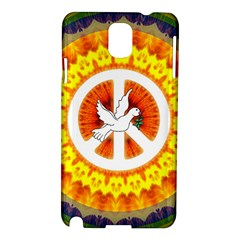 Psychedelic Peace Dove Mandala Samsung Galaxy Note 3 N9005 Hardshell Case by StuffOrSomething