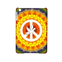 Psychedelic Peace Dove Mandala Apple Ipad Mini 2 Hardshell Case by StuffOrSomething