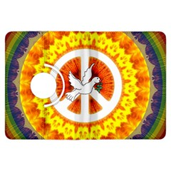 Psychedelic Peace Dove Mandala Kindle Fire HDX Flip 360 Case by StuffOrSomething