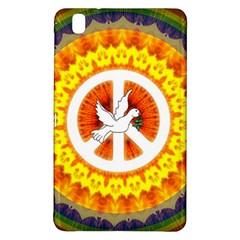 Psychedelic Peace Dove Mandala Samsung Galaxy Tab Pro 8 4 Hardshell Case by StuffOrSomething