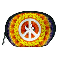 Psychedelic Peace Dove Mandala Accessory Pouch (medium)