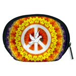 Psychedelic Peace Dove Mandala Accessory Pouch (Medium) Back