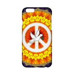 Psychedelic Peace Dove Mandala Apple Iphone 6 Hardshell Case by StuffOrSomething