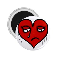 Sad Heart 2 25  Button Magnet by dflcprints