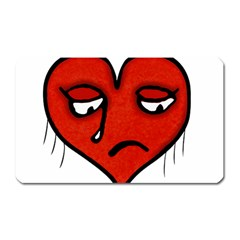 Sad Heart Magnet (rectangular) by dflcprints