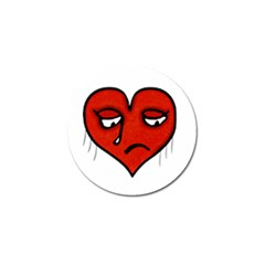 Sad Heart Golf Ball Marker by dflcprints