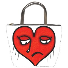Sad Heart Bucket Handbag by dflcprints