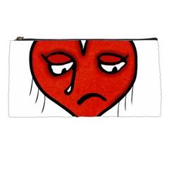 Sad Heart Pencil Case by dflcprints