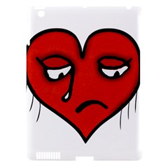 Sad Heart Apple Ipad 3/4 Hardshell Case (compatible With Smart Cover) by dflcprints