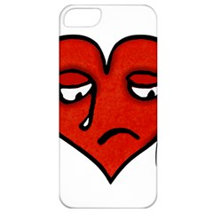 Sad Heart Apple Iphone 5 Classic Hardshell Case by dflcprints