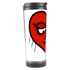 Sad Heart Travel Tumbler by dflcprints