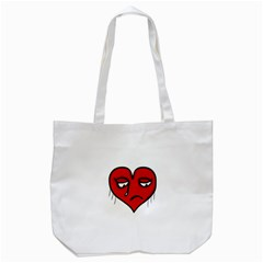 Sad Heart Tote Bag (white) by dflcprints