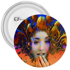 Organic Medusa 3  Button by icarusismartdesigns