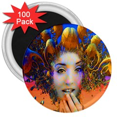 Organic Medusa 3  Button Magnet (100 Pack) by icarusismartdesigns