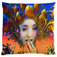 Organic Medusa Large Cushion Case (two Sided)  by icarusismartdesigns