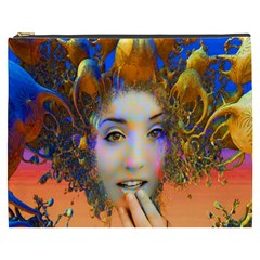 Organic Medusa Cosmetic Bag (xxxl) by icarusismartdesigns