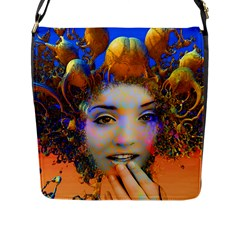 Organic Medusa Flap Closure Messenger Bag (large) by icarusismartdesigns
