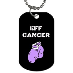 Eff Cancer Dog Tag (One Sided) by KattsKreations
