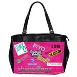 beachbodyoversizedpursepink - Oversize Office Handbag (2 Sides)
