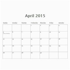 Calendar 2015 By Janet Andreasen   Wall Calendar 11  X 8 5  (12 Months)   Orba7o2v3won   Www Artscow Com Apr 2015