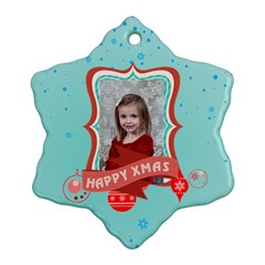 Xmas By Xmas   Snowflake Ornament (two Sides)   Jqrpi89qhyhf   Www Artscow Com Front