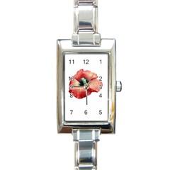 Your Flower Perfume Rectangular Italian Charm Watch by dflcprints