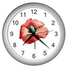 Your Flower Perfume Wall Clock (silver) by dflcprints