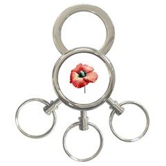 Your Flower Perfume 3 Ring Key Chain by dflcprints