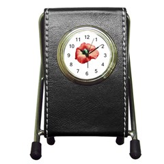 Your Flower Perfume Stationery Holder Clock by dflcprints