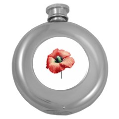 Your Flower Perfume Hip Flask (round) by dflcprints