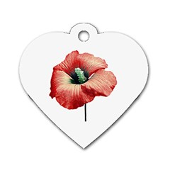 Your Flower Perfume Dog Tag Heart (one Sided)  by dflcprints