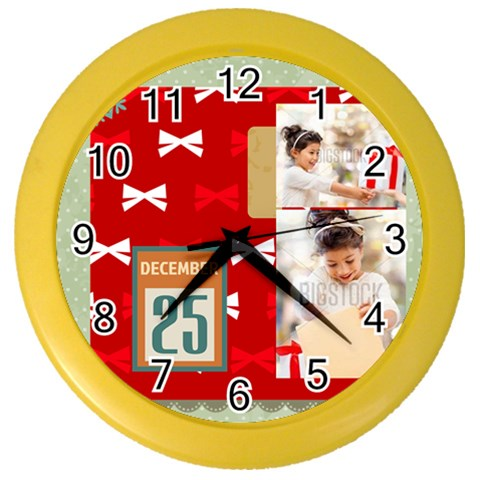 Xmas By Xmas4   Color Wall Clock   405jefmzp42c   Www Artscow Com Front