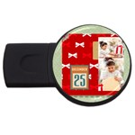 xmas - USB Flash Drive Round (1 GB)