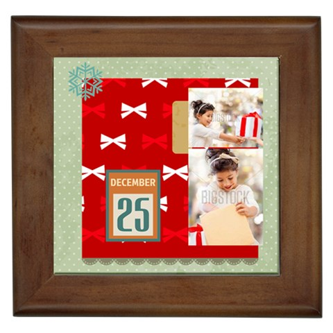 Xmas By Xmas4   Framed Tile   0phgwjvflvgm   Www Artscow Com Front
