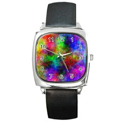 Plasma 21 Square Leather Watch by BestCustomGiftsForYou