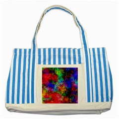 Plasma 27 Blue Striped Tote Bag by BestCustomGiftsForYou