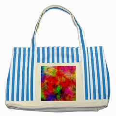 Plasma 30 Blue Striped Tote Bag by BestCustomGiftsForYou