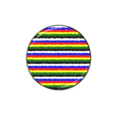 Horizontal Basic Colors Curly Stripes Golf Ball Marker 10 Pack (for Hat Clip) by BestCustomGiftsForYou